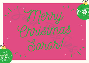 Soror Besties Christmas Card Set