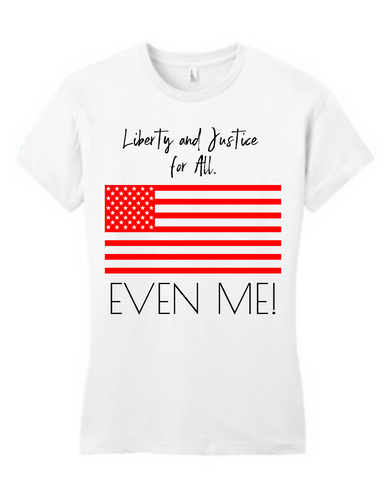 Liberty & Justice Tee Red