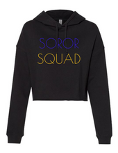 Load image into Gallery viewer, Soror Squad Cropped Hoodie Gold