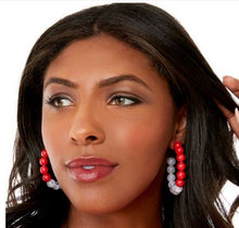 Load image into Gallery viewer, Crimson & Cream Earrings