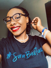 Load image into Gallery viewer, #SororBesties Tee Blue