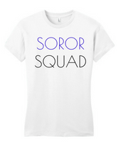 Load image into Gallery viewer, Soror Squad Tee Blue