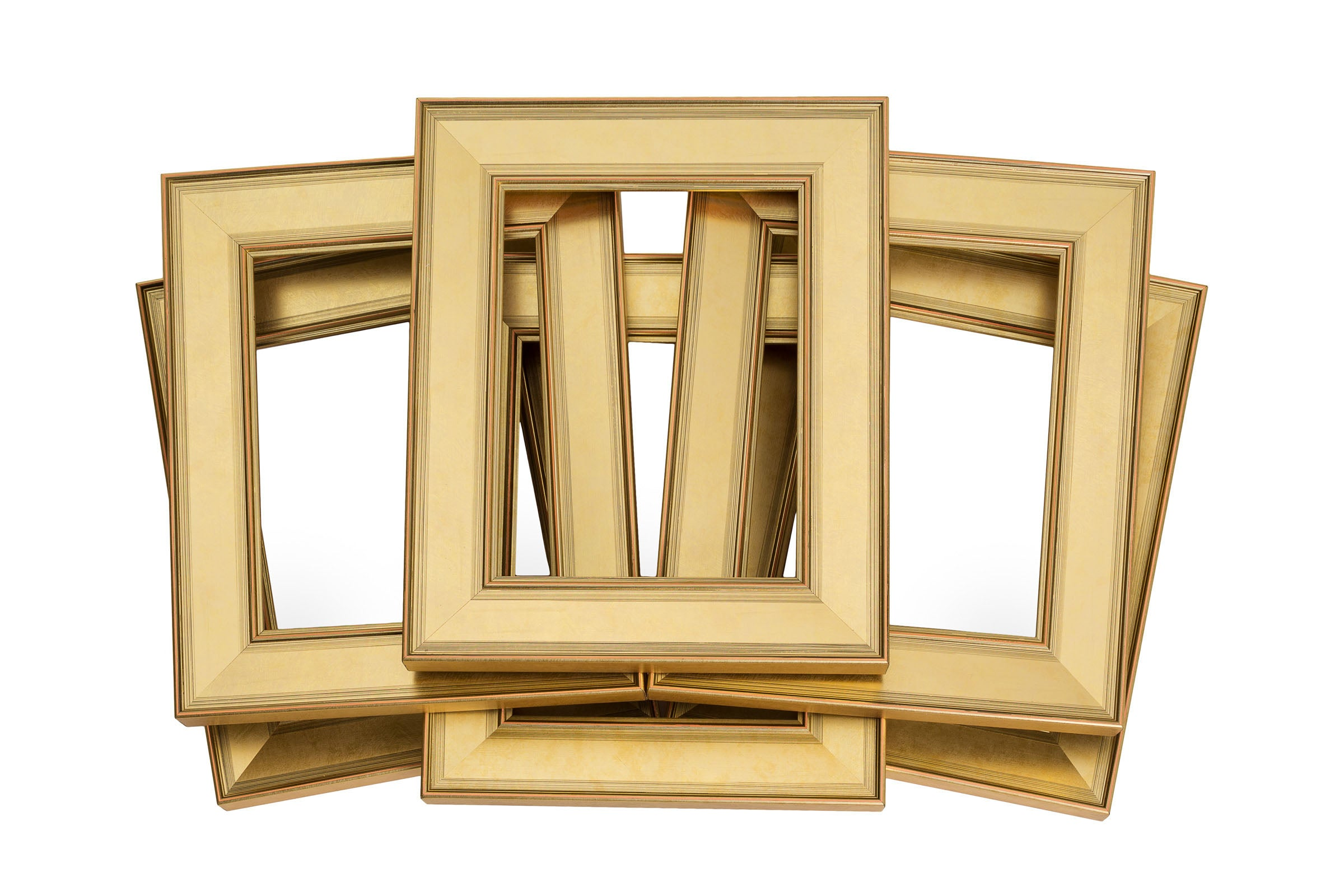 621fcc22876 Six Pack Modern Gold Frame - Wholesale Frame Company