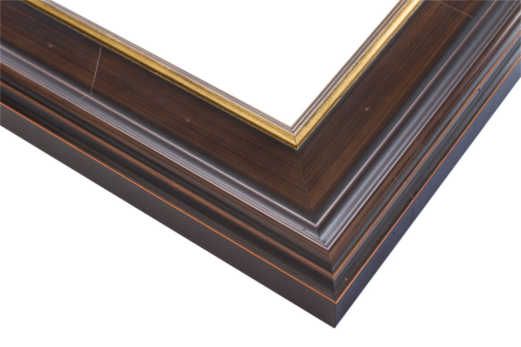 Brown Frame with Brushed Sienna, Artist Frame