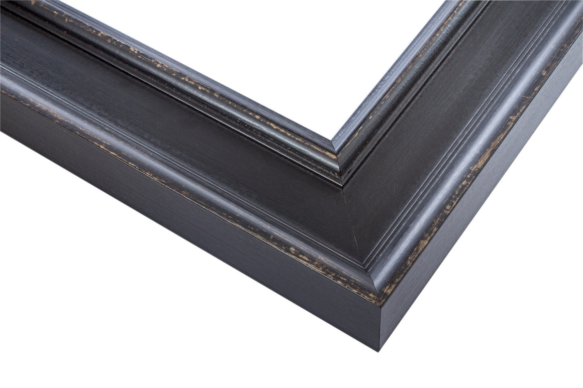 Antique, black, frame, wood, wax finish, wholesale, artist frame