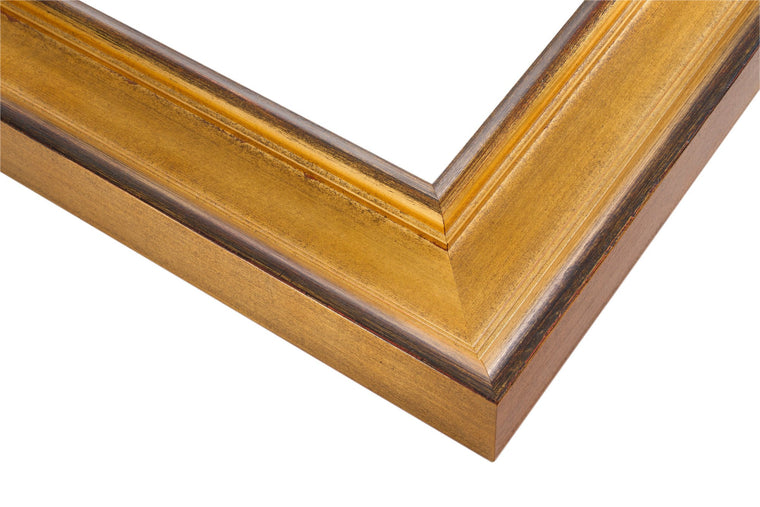 Dark gold, Wear Marks , red undertones, antique, wax finish, wholesale, artist frame