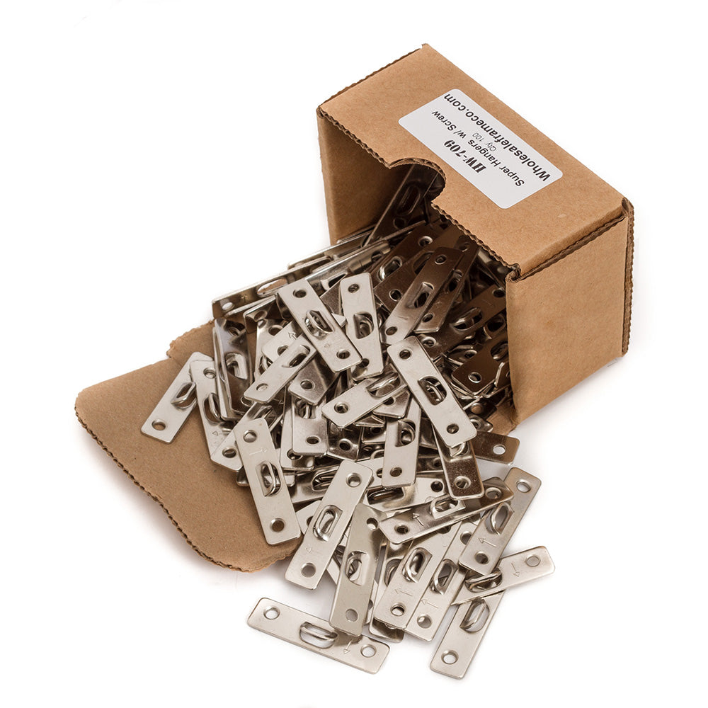 100 Count Two hole Super Hangers w/ Screws