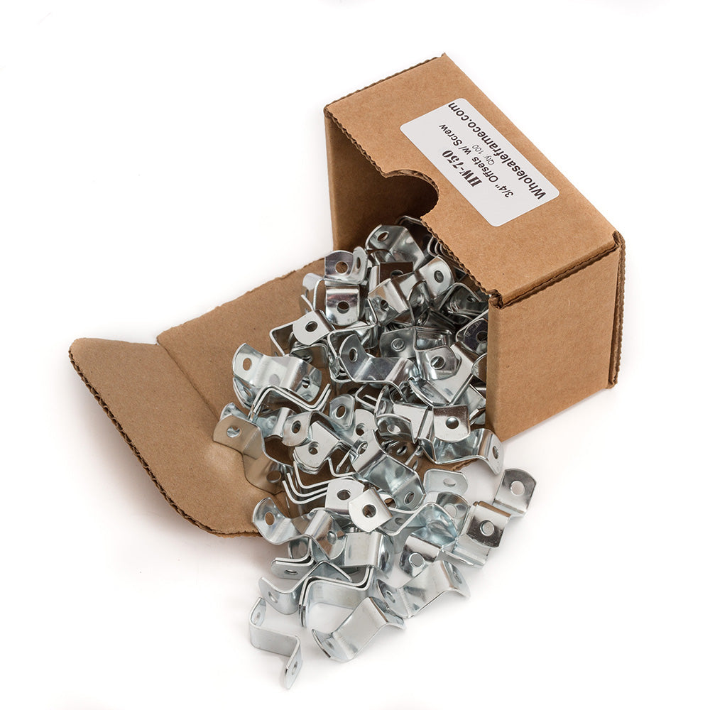 "3/4"" Offset Clips w/ Screws, Picture Frame Hardware, 100 Count"
