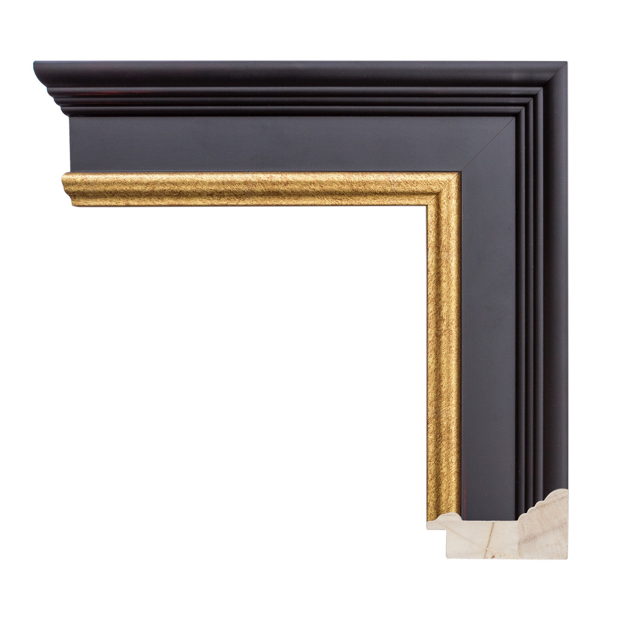 Black Frame with Mahogany Undertones with gold lip - Wholesale Frame ...