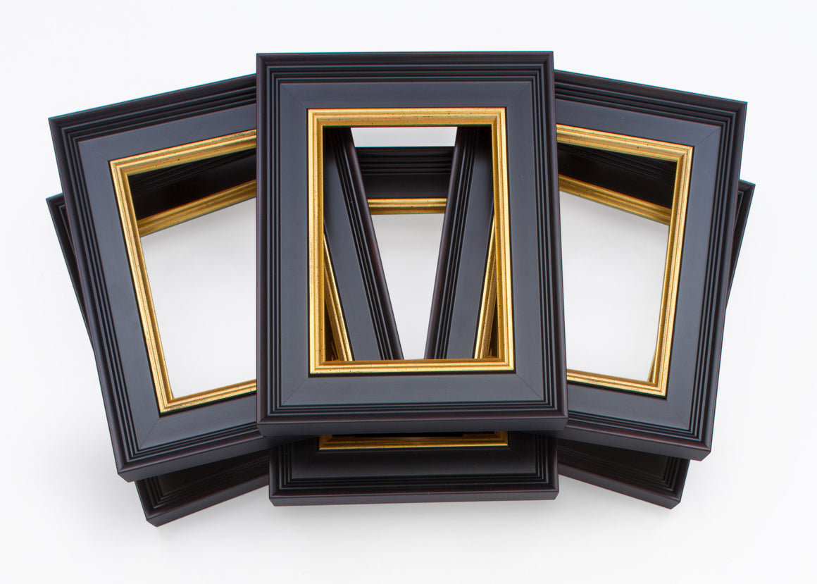 traditional, black, gold fillet, plein air, wholesale, artist frame, six pack, bundle