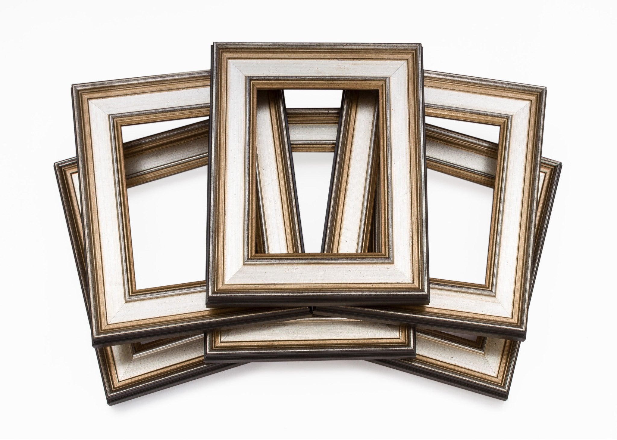traditional silver plein air wholesale artist frame six pack bundle - Wholesale Picture Frames