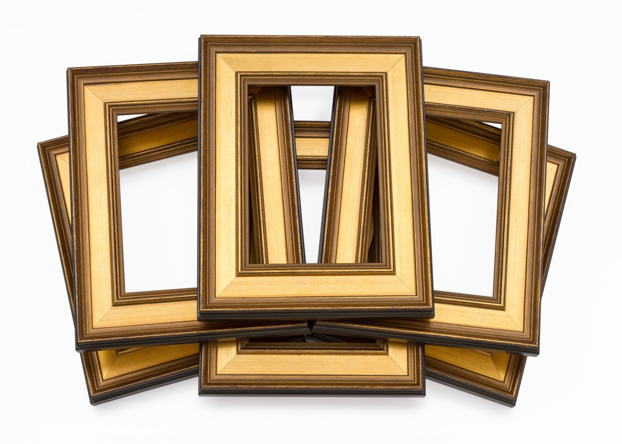 traditional gold plein air wholesale artist frame six pack bundle - Wholesale Picture Frames