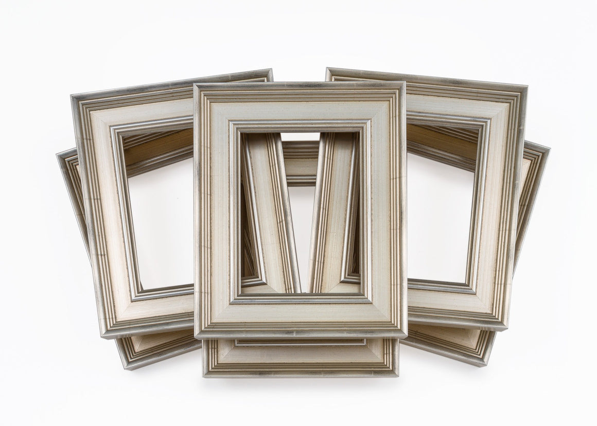 Six Pack Traditional Silver Frames