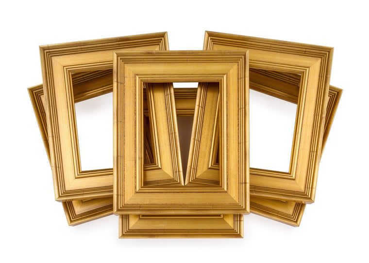 Six Pack Traditional Gold Frames