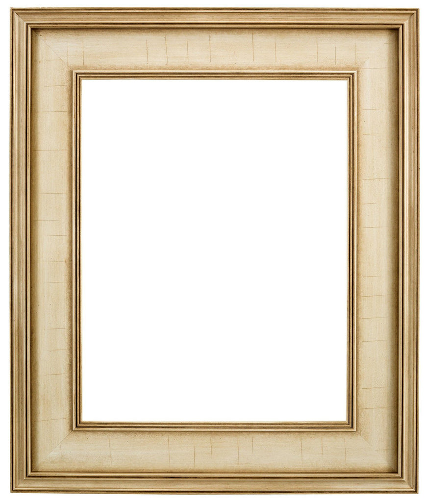 Antique white frame with classic plein air