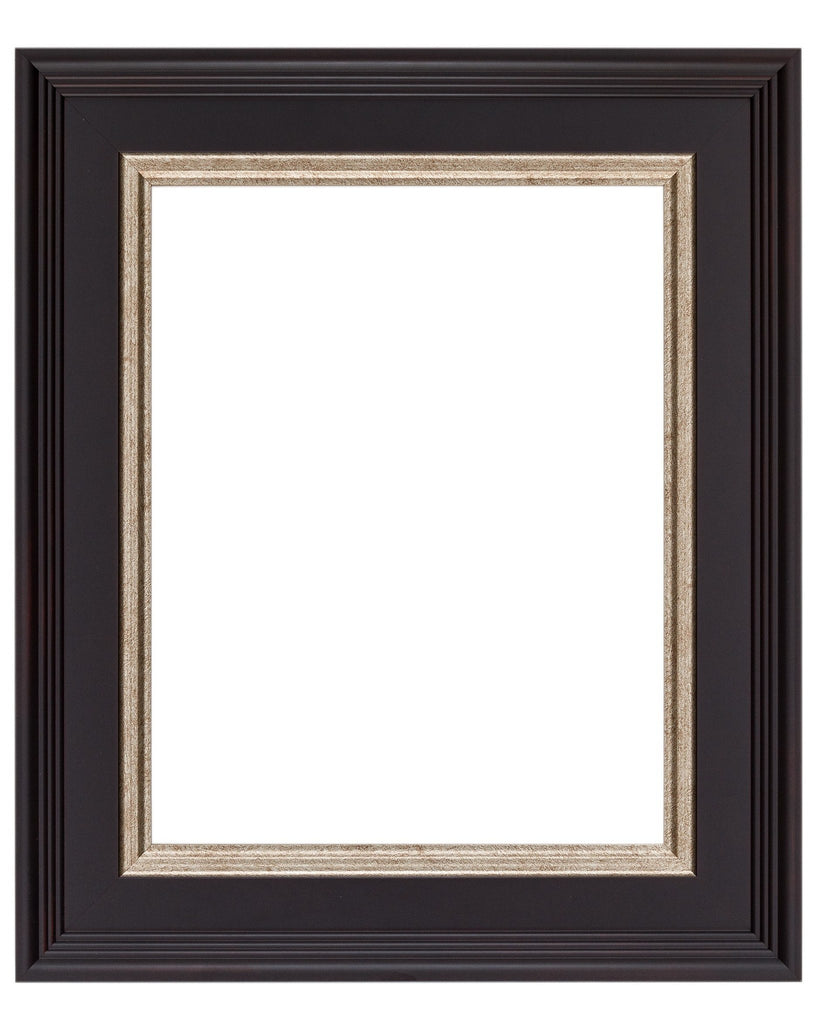 Black Frame with Crimson Undertones and Silver Lip, artist frame