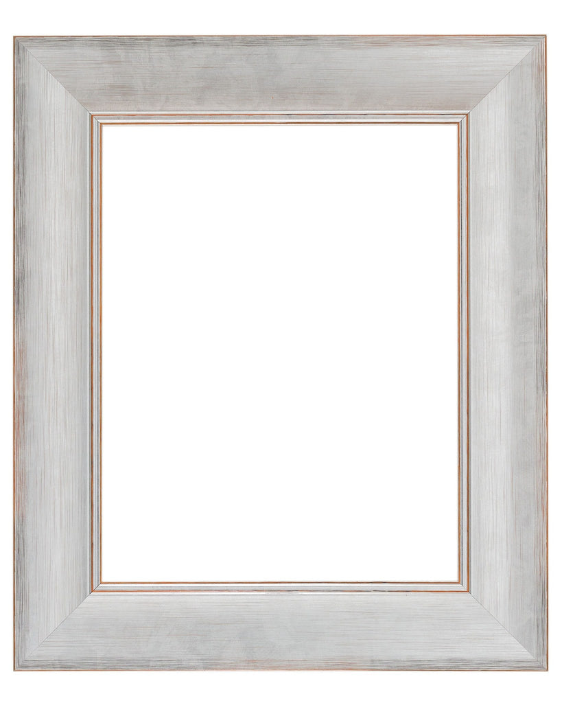 Bright Silver Frame with Burnt Umber Highlights, Artist Frame