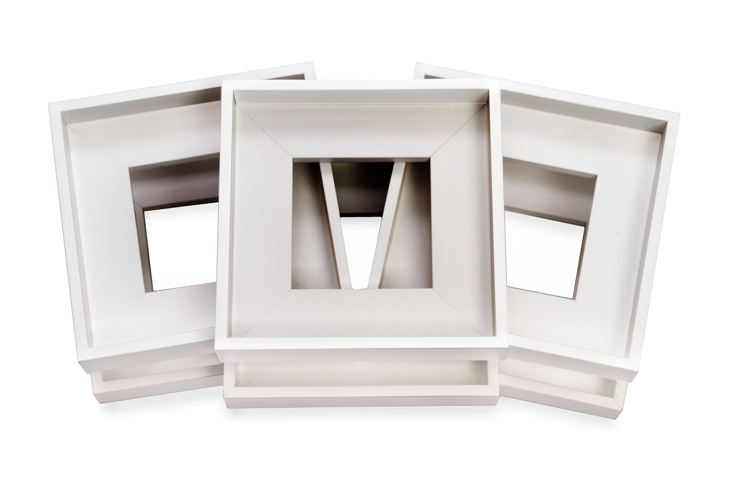 Six Pack White Floater Frames - Wholesale Frame Company