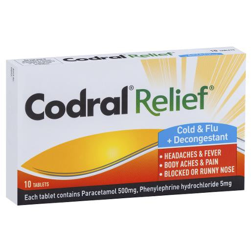 Codral Relief Cold N Flu 10S
