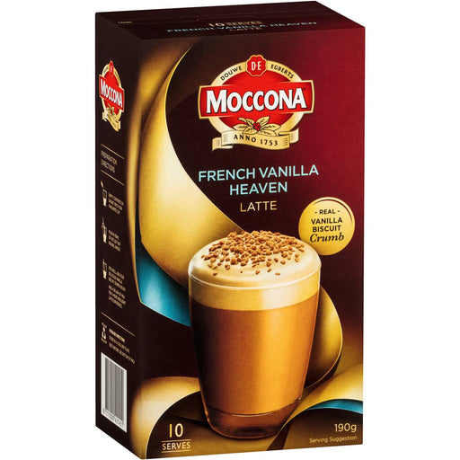 MOCCONA SACHETS 10 PACK FRENCH VANILLA HEAVEN LATTE