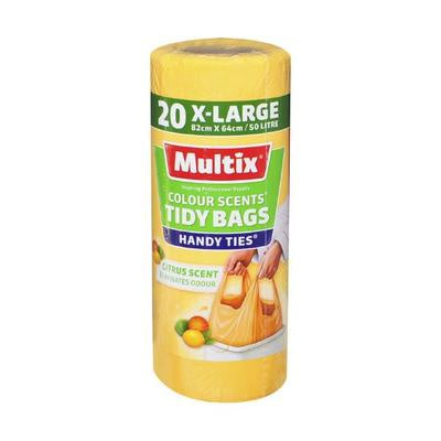 Multix Tidy Bag Colour Citrus Scent X-Large 50L 20Pk