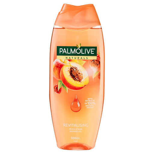 Palmolive Naturals Shower Gel Revitalising Peach And Rose 500Ml