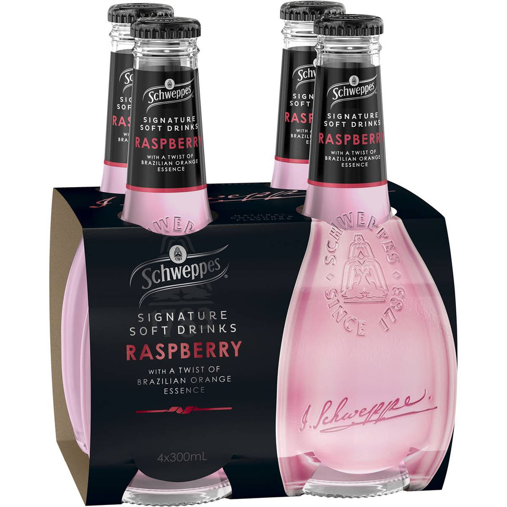 SCHWEPPES SIGNATURE SERIES RASPBERRY 4 X 300ML