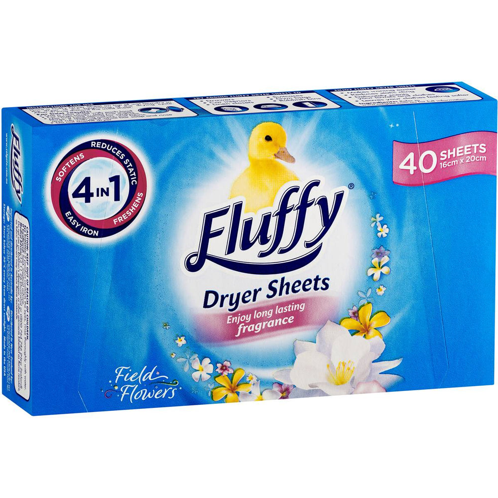 Fluffy Tumble Dryer Sheets Field Flowers 40 Pack