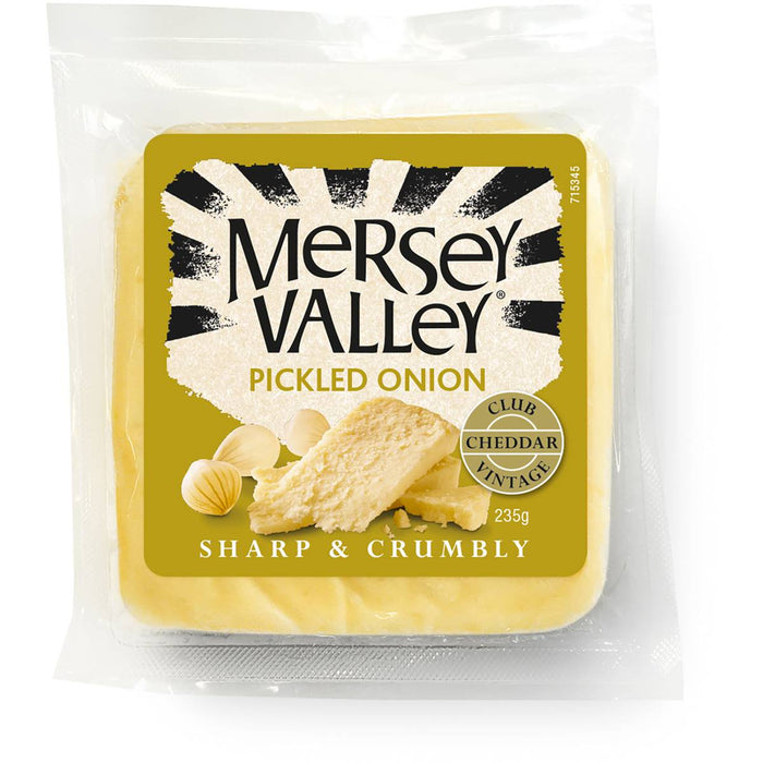 MERSEY VALLEY CHEESE PICKLED ONION 235G