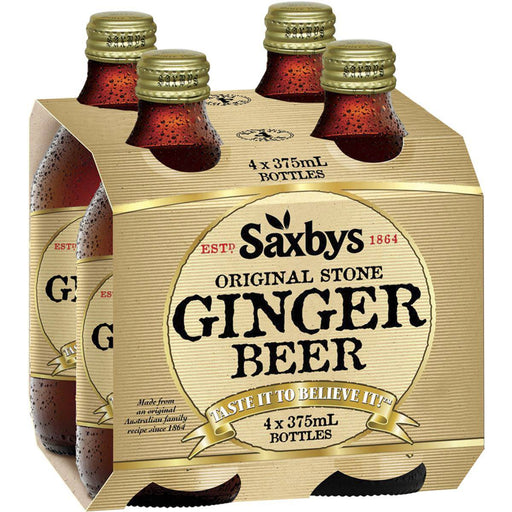 Saxbys Ginger Beer 4X375Ml