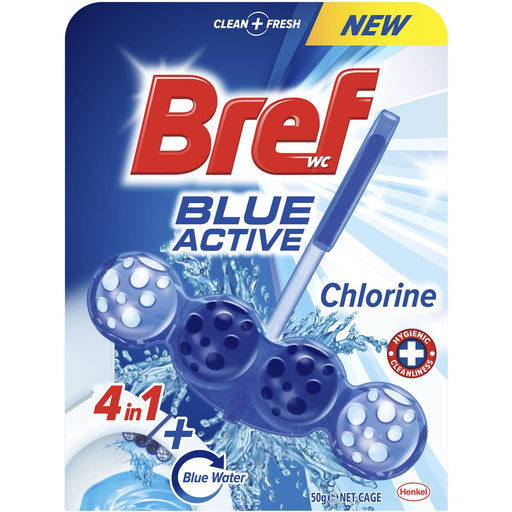 BREF BLUE ACTIVE TOILET CLEANER CHLORINE 50G