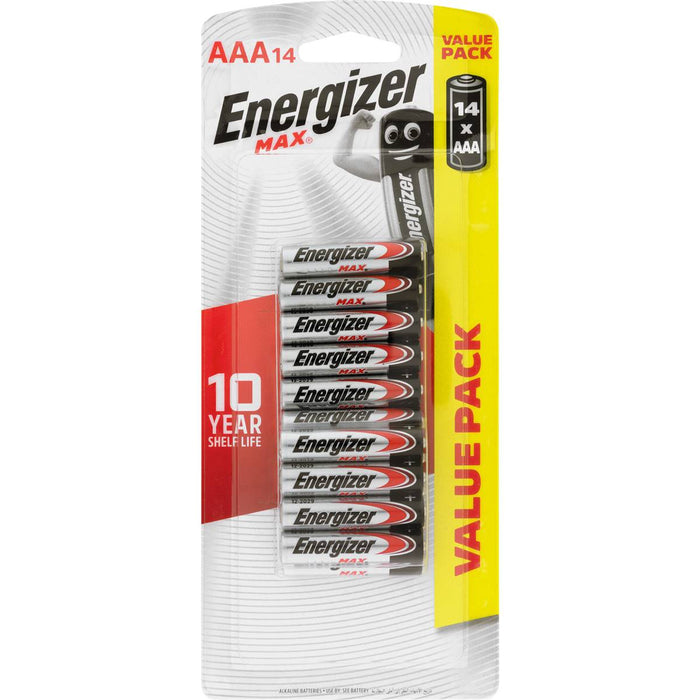 ENERGIZER MAX BATTERY AAA 14 PACK
