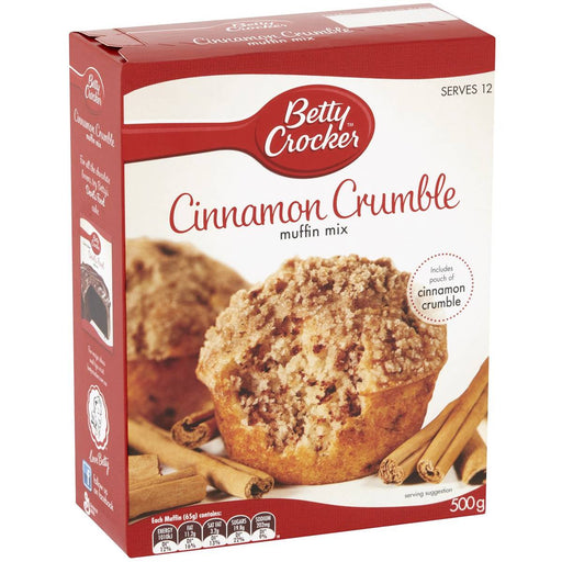 Betty Crocker Cinnamon Crumble Muffin Mix 500G