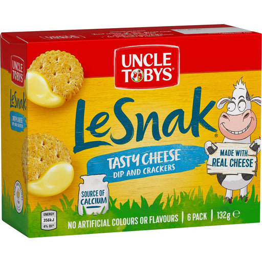 Uncle Tobys Le Snak Tasty Cheese 6Pk