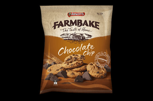 Arnotts Farmbake Choc Chip Fudge Cookies 350G