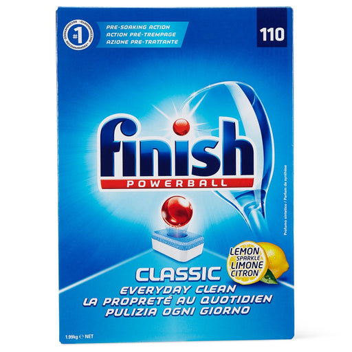 FINISH POWERBALL DISHWASHING TABLETS CLASSIC LEMON SPARKLE 110 PACK