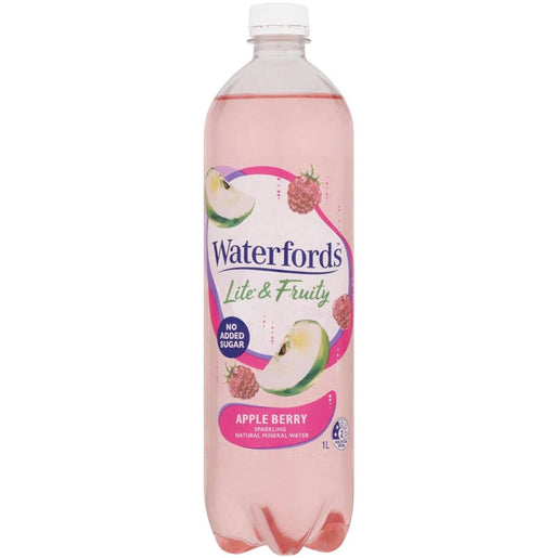 WATERFORDS LITE AND FRUITY - 1L APPLE BERRY
