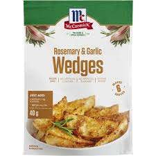 McCormick Rosemary & Garlic Wedges Satchet 40g