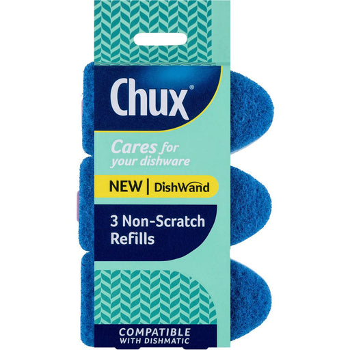 Chux Dishwand Non-Scratch Refills 3 Pack