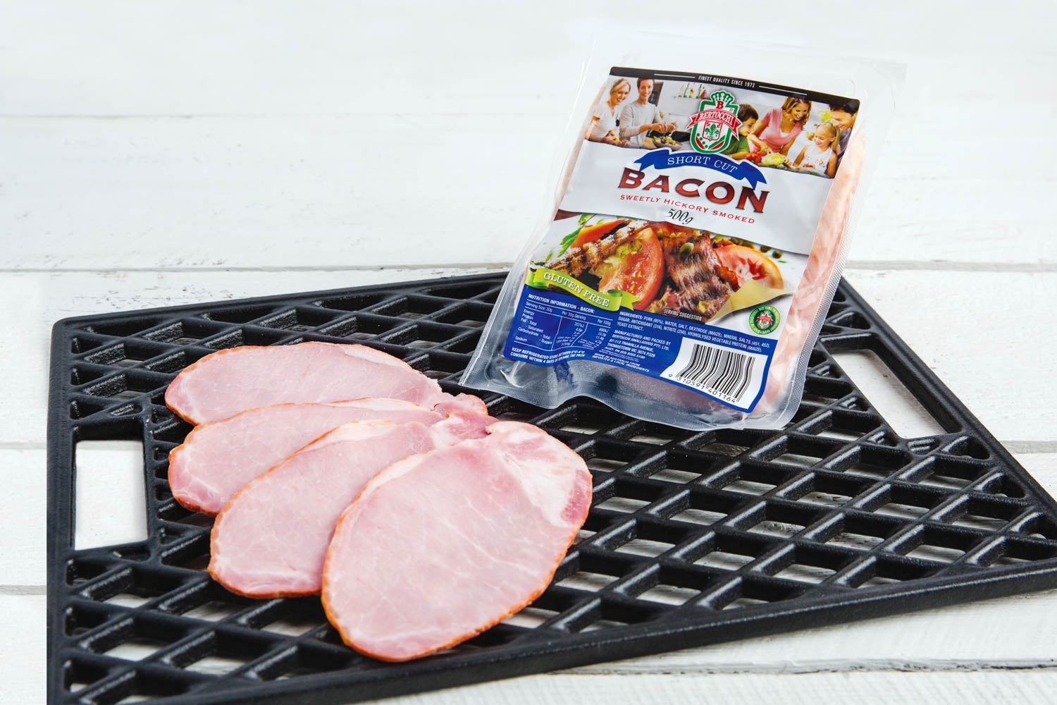 BERTOCCHI SHORT RINDLESS BACON 500G