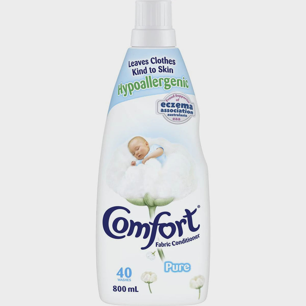 COMFORT FABRIC SOFTENER PURE WHITE SENSITVE 800ML