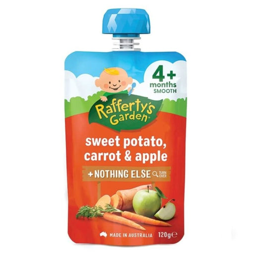 Raffertys Garden Smooth Sweet Potato Carrot Apple 4M 120G