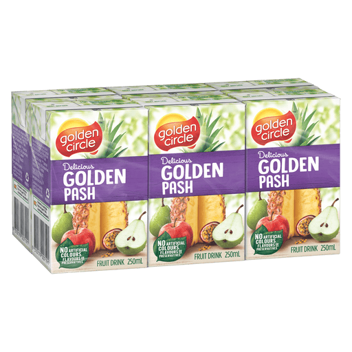 GOLDEN CIRCLE JUICE BOX GOLDEN PASH 6PK 250ML