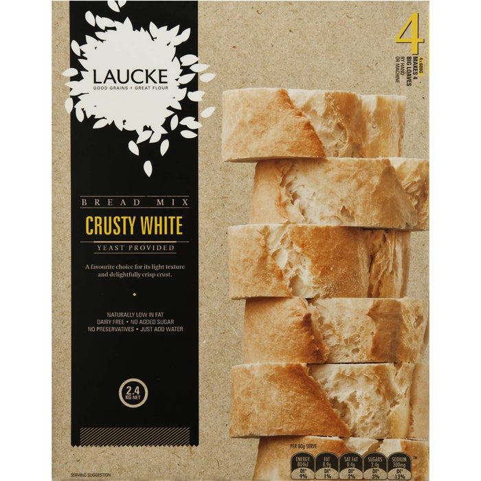 Laucke Crusty White Bread Mix 2.4Kg