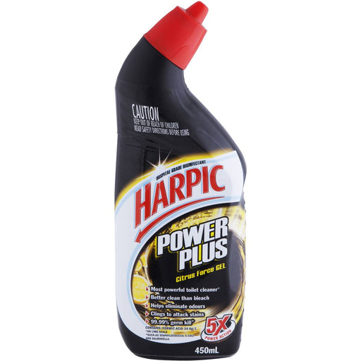 HARPIC TOILET CLEANER GEL POWER PLUS CITRUS 450ML