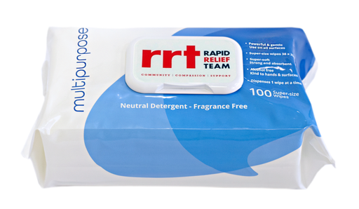 RRT UNIWIPE MULTIPURPOSE HUGE WIPES 100PK