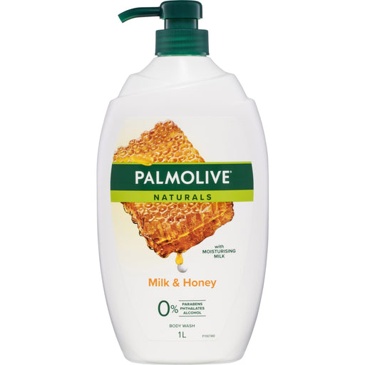Palmolive Naturals Milk & Honey Body Wash 1L
