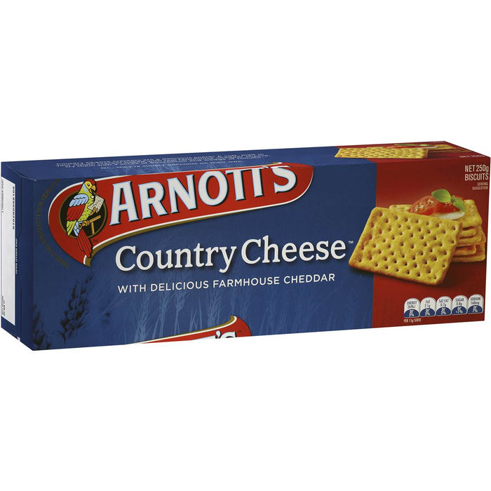 ARNOTTS COUNTRY CHEESE BISCUITS 250G