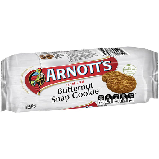 Arnotts Butternut Snap Cookies 250G