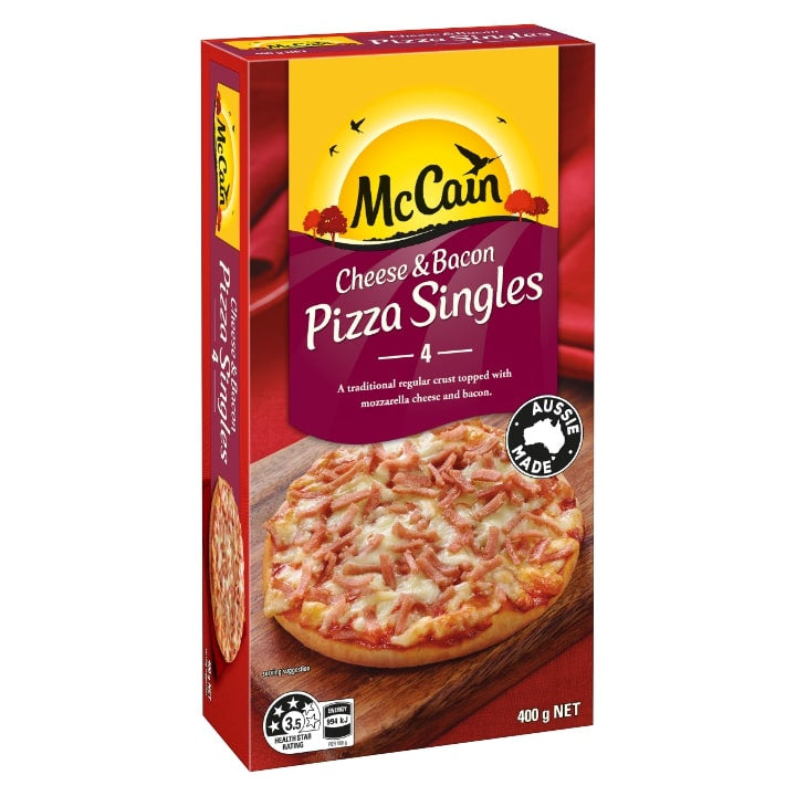 MCCAINS PIZZA SINGLES CHEESE & BACON